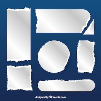 Jogo de partes de papel rasgado