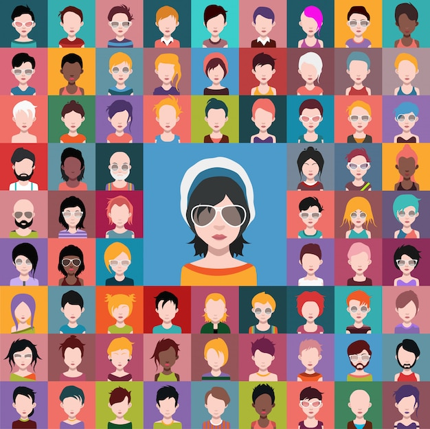 Jogo, de, pessoas, ícones