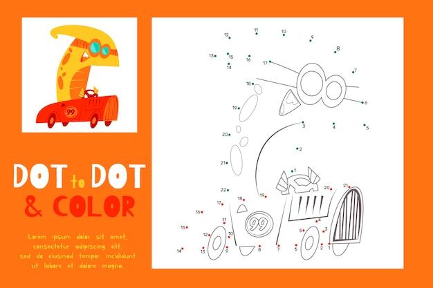 Jogo de ponto a ponto desenhado para crianças