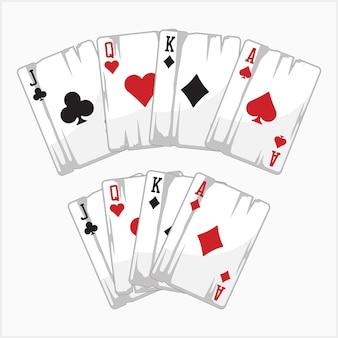 Jogo de pôquer conjunto de cartas