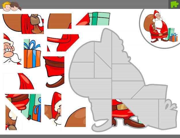 Jogo de quebra-cabeça com o natal santa