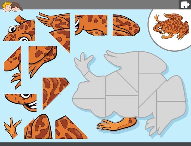 Jogo de quebra-cabeça com personagem animal xenopus