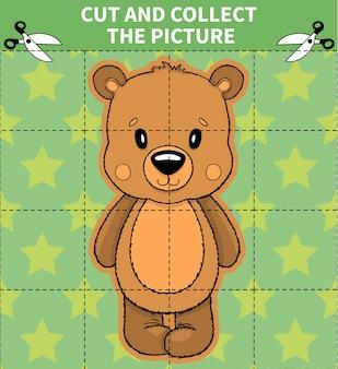 Jogo de quebra-cabeça de animais para crianças em idade pré-escolar
