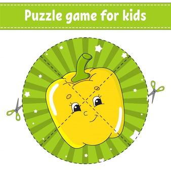 Jogo de quebra-cabeça para as crianças.
