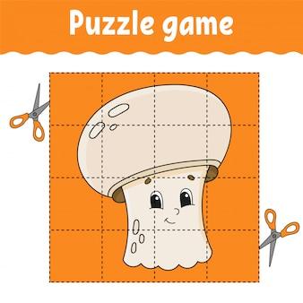 Jogo de quebra-cabeça para crianças. planilha de desenvolvimento de educação. jogo de aprendizagem para crianças.