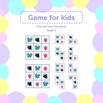 Jogo de quebra-cabeça para crianças pré-escolares.