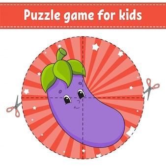 Jogo de quebra-cabeça para crianças.