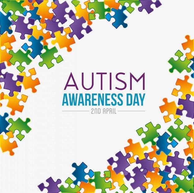Jogo de quebra-cabeças para o dia do autismo