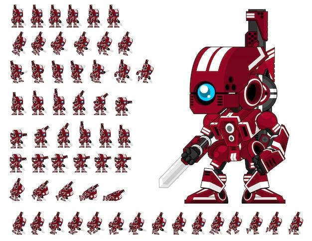 Jogo de robô vermelho sprite