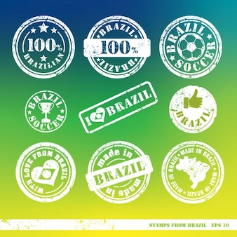 Jogo de selos de elementos brasil vetor para sua projeta
