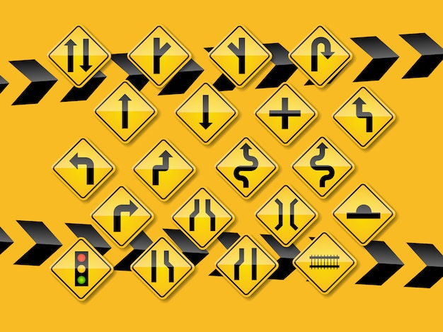 Jogo, de, sinais tráfego