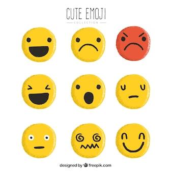 Jogo de smiley amarelos