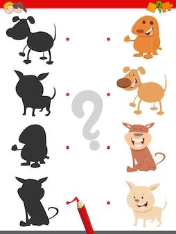 Jogo de sombra com cachorros