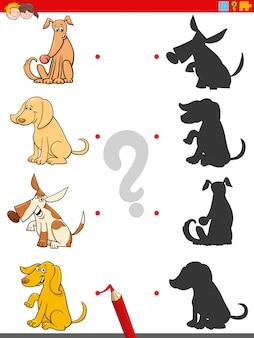 Jogo de sombra com personagens animais de cães