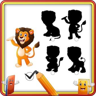 Jogo de sombra de leão