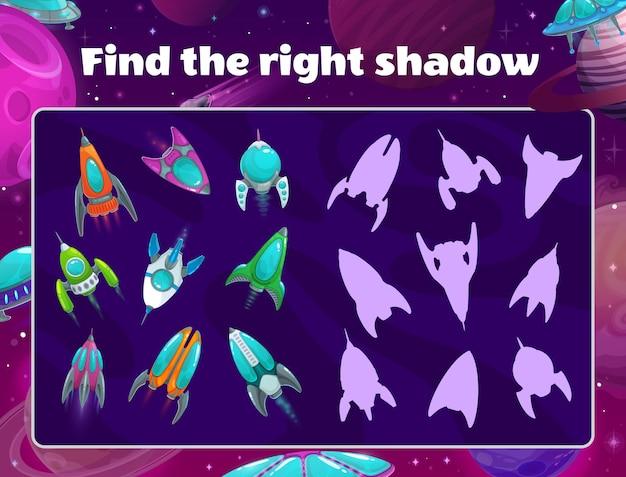 Jogo de sombras com naves espaciais