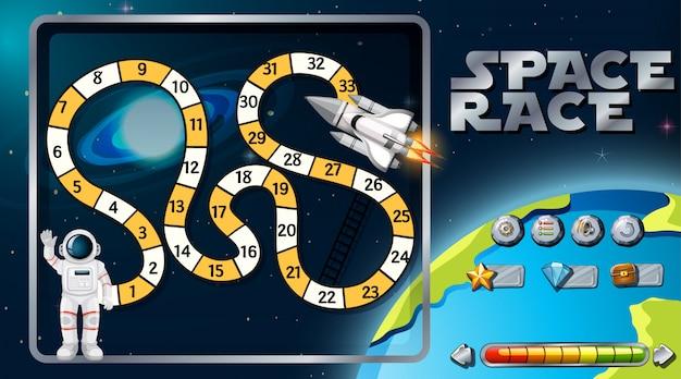 Jogo de tabuleiro de corrida espacial