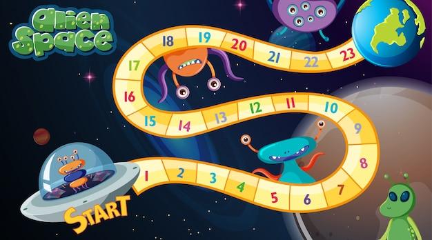 Jogo de tabuleiro de espaço alienígena