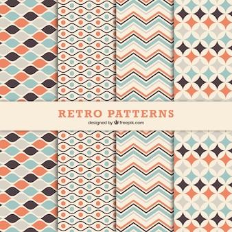 Jogo de testes padrões decorativos ornamentais no estilo retro