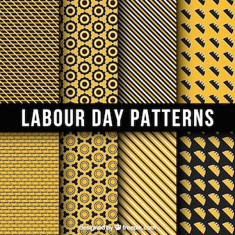 Jogo de testes padrões dia de trabalho geométrica