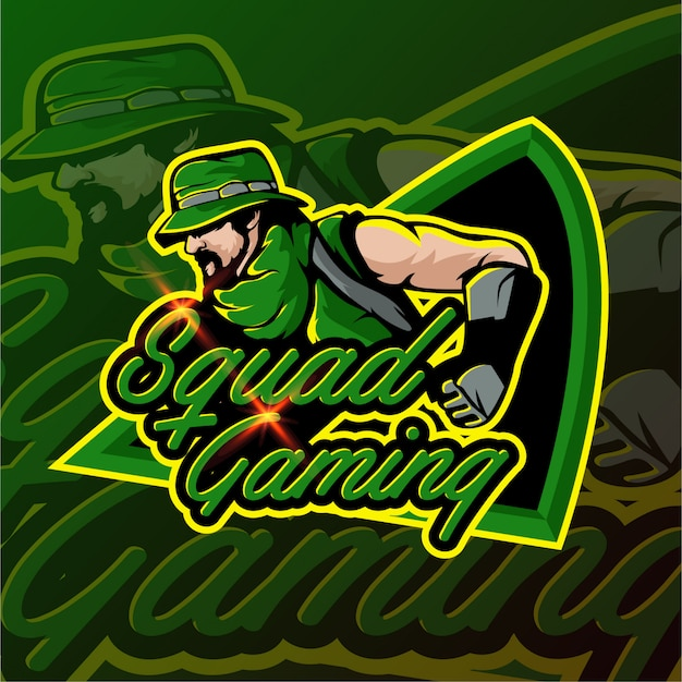 Jogo de tiro e emblema do logotipo de esportes