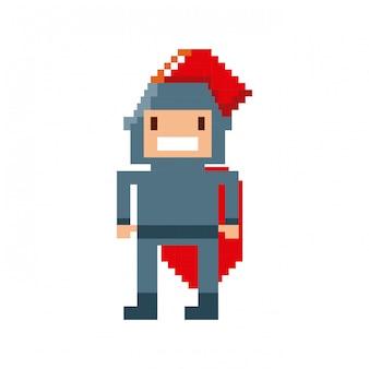 Jogo de vídeo guerreiro pixelizada