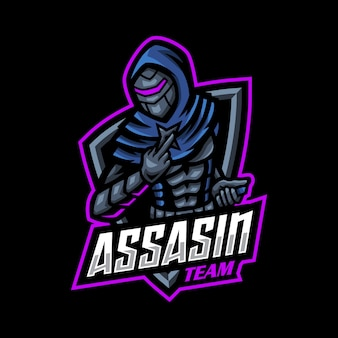 Jogo do mascote do logotipo assasin esport