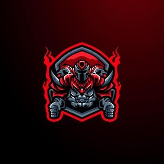 Jogo do mascote do logotipo do e-sport cyborg