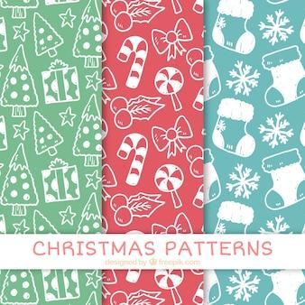 Jogo do natal esboça padrões