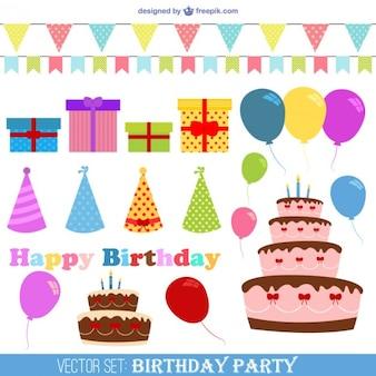 Jogo do vetor da festa de aniversário