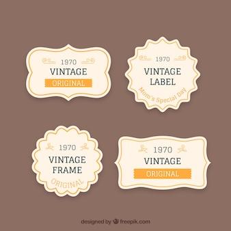 Jogo do vetor de frames do vintage