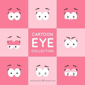 Jogo dos olhos expressivos para desenhos