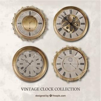 Jogo dos relógios realistas do vintage