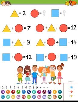 Jogo educativo de cálculo de matemática para crianças