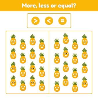 Jogo educativo de matemática para crianças em idade pré-escolar e escolar
