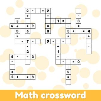 Jogo educativo de matemática para crianças em idade pré-escolar e escolar.