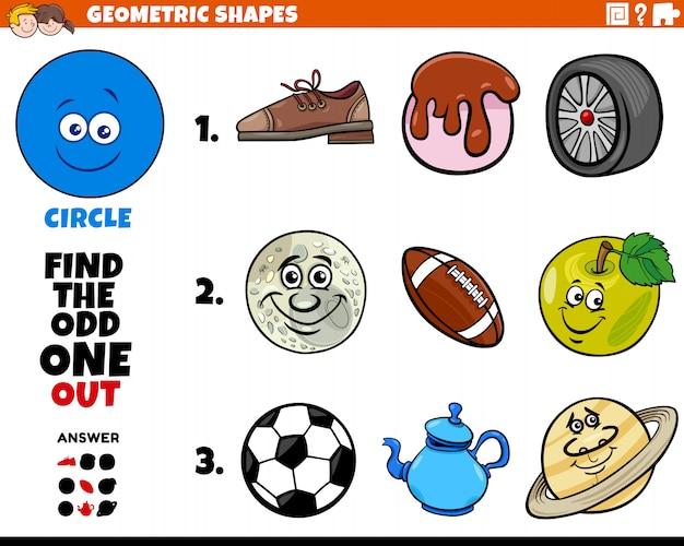 Jogo educativo de objetos de forma de círculo para crianças