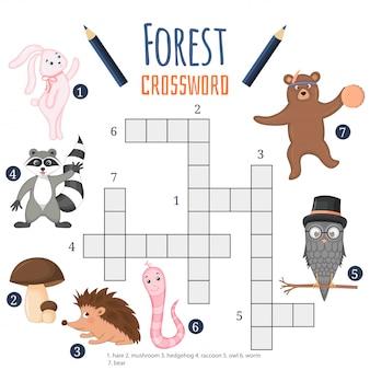 Jogo educativo para crianças sobre animais