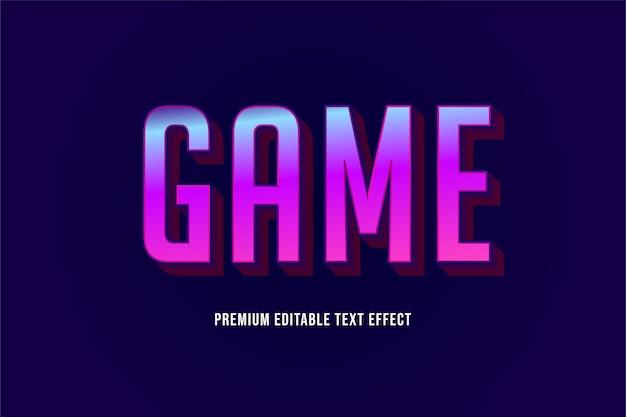 Jogo - efeito de texto premium editável roxo
