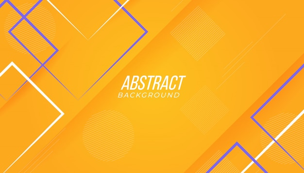 Jogo geométrico abstrato moderno amarelo e roxo colorido