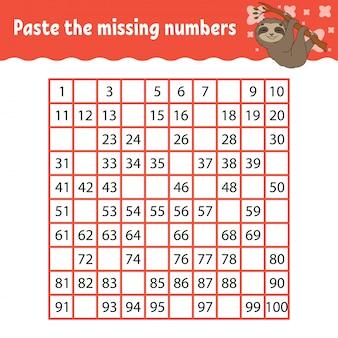 Jogo infantil com animal para aprender números