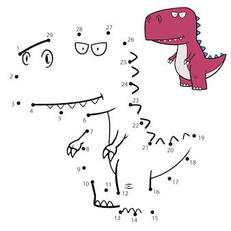 Jogo infantil ponto a ponto dinossauro