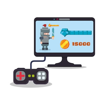Jogo online controlador de computador pontuação cavaleiro jogar