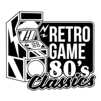 Jogo retro clássicos dos anos 80 velha máquina de jogo para jogar videogame retro arcade.