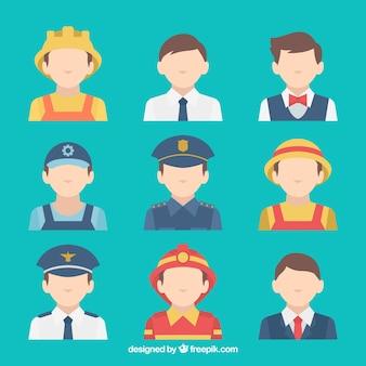 Jogos modernos de avatares de emprego masculino