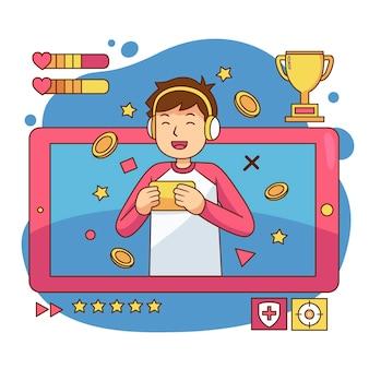 Jogos online ilustrados