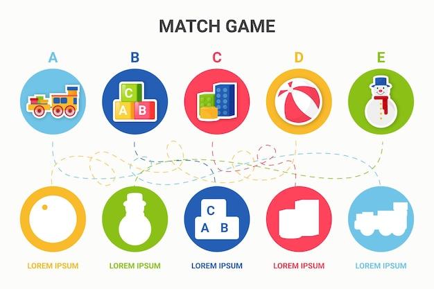 Jogue e aprenda jogo de correspondência
