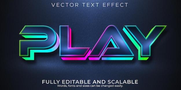 Jogue efeitos de texto editáveis em jogos, estilo de texto rgb e neon