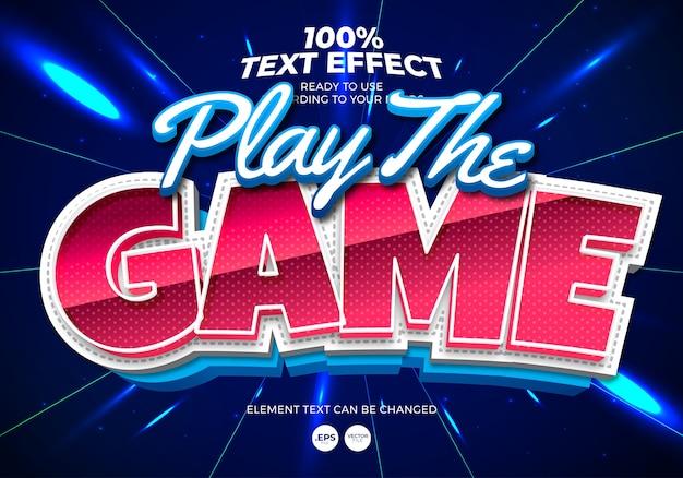 Jogue o efeito de texto do jogo