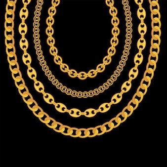 Jóias de corrente de ouro isolado